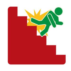 階段から落ちるイメージ