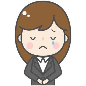 泣く女性マネージャー