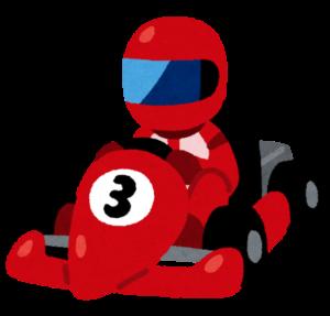 レーシングカートのイラスト