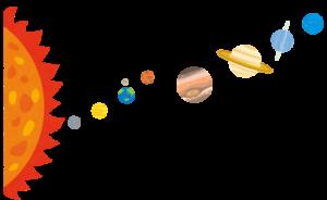 太陽系のイラスト