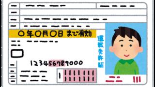 日本の免許証(ゴールド免許)のイラスト