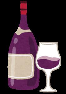 ワインのイラスト「赤ワイン」