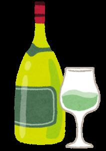 ワインのイラスト「白ワイン」