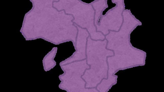 近畿地方の地図のイラスト