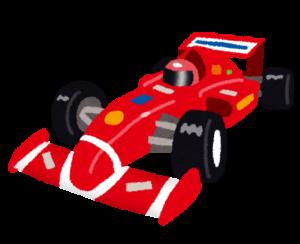 F1カー・フォーミュラーカーのイラスト