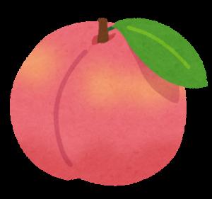 桃のイラスト