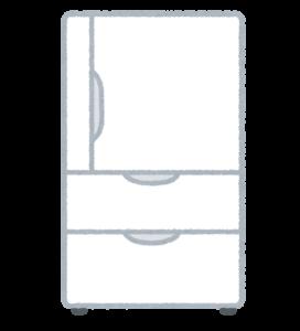 白い冷蔵庫のイラスト