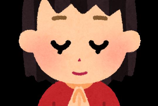 合掌のイラスト(女の子)