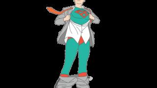 タフなヒーローのイラスト