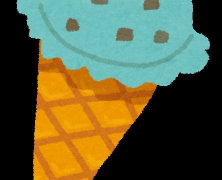 チョコミントアイスクリームのイラスト