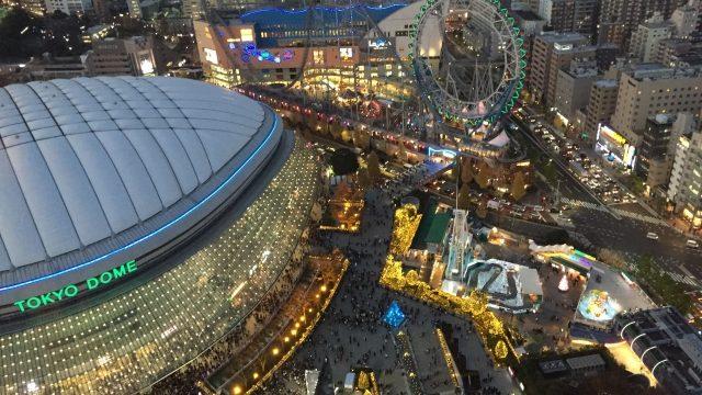 東京ドームとイルミネーション