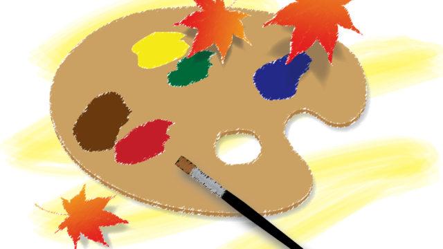 絵画を描く際に使用されるパレット