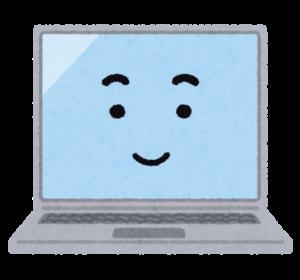 ノートパソコンのキャラクター