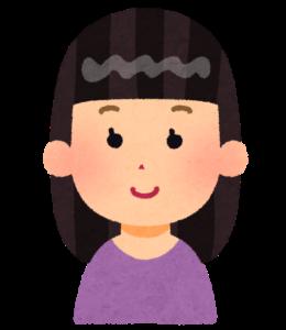 ぱっつん前髪の女の子のイラスト