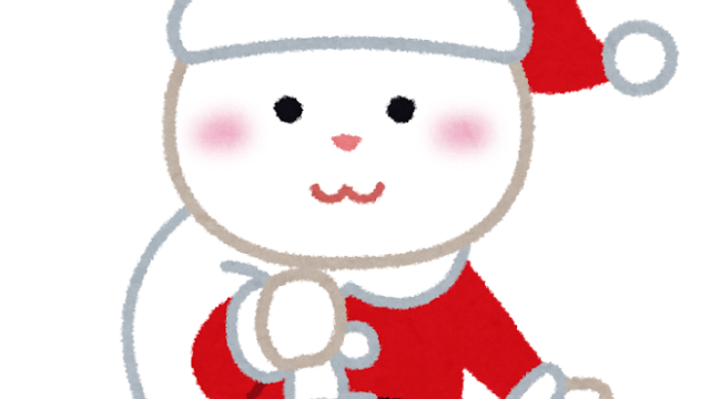 サンタ姿のうさぎのキャラクター