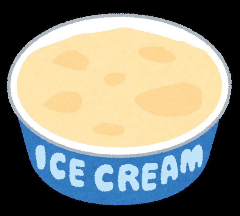 カップのアイスクリームのイラスト