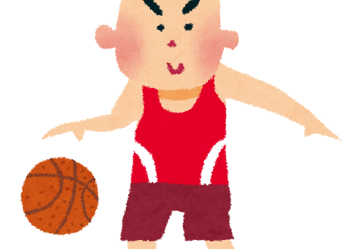 バスケットボール選手のイラスト